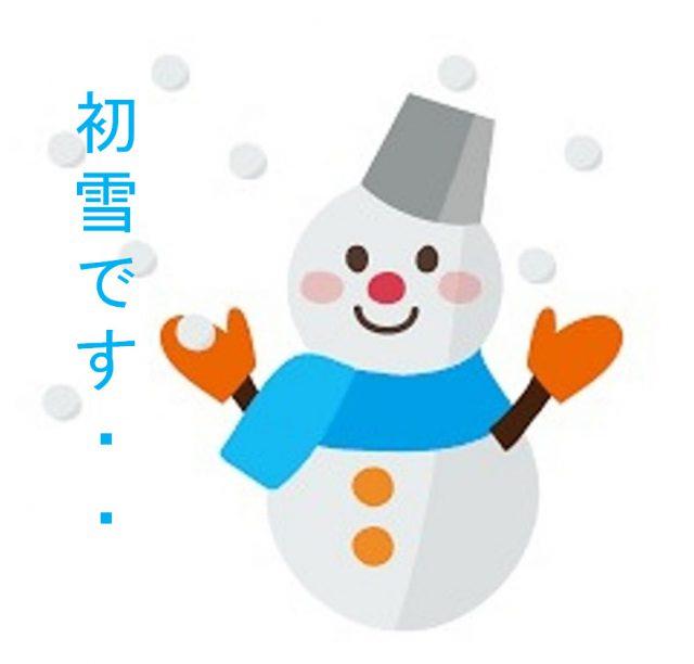 初雪です・・・